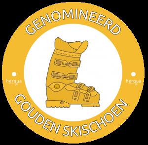 ski-inn gouden skischoen